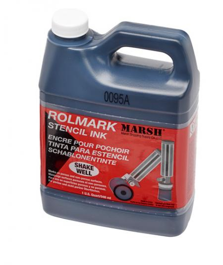 Marsh Rolmark Stencil Ink - 1 Quart - BLACK