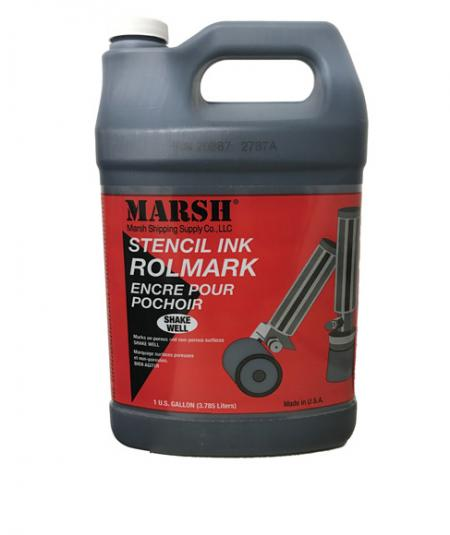 Marsh Rolmark Stencil Ink - 1 Gallon - BLACK